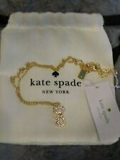 Kate Spade Jazz Things Up Cat Pave Pendant Necklace NWT $58 Dust Bag