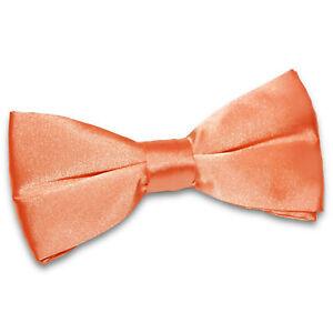Mens Boys Bow Tie Satin Solid Plain Wedding Adjustable Pretied Bowtie by DQT