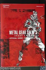 JAPAN Metal Gear Solid 3: Snake Eater Official Guide The Complete