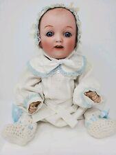Yamato Morimura Bisque Head Character Baby Doll 15� Antique Rare Vhtf Original