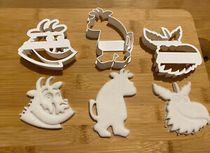 Gruffalo set of  3 Cookie Cutters For Biscuits, Sugar paste