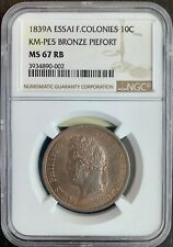 GUADELOUPE - LOUIS PHILIPPE - 10 CENTIMES ESSAI PIEFORT 1839  - NGC MS 67 RB