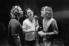 Glossy Photo Picture 8x10 Crosby Stills And Nash Singer Black And White