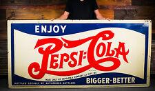 Original Pepsi Cola Double Dot Billboard Sign - Long Island Bottling Plant- WOW!
