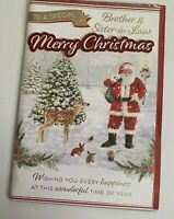 "Christmas Greeting Card For Brother And Sister-in-law Large Card 6x9"" Xmas Card"