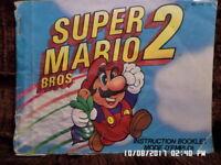 Super Mario Bros. 2 (NES Nintendo) Instruction Manual Only.. NO GAME