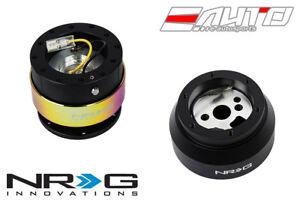 NRG Steering Wheel Short Hub SRK-170H + BK Gen2 Quick Release Neo Chrome Ring a