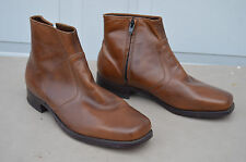 vintage Florsheim Brown Leather 6 inch Side Zipper Ankle Dress Mens Size 9.5 3E
