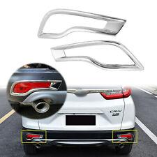 For Honda CRV 2017 2018 2019 CR-V Chrome Trim Rear Bumper Reflector Cover Trim