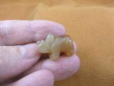 (Y-Rhi-521) brown Agate Rhinoceros I love little Rhino Rhinos gemstone Figurine