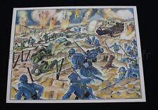 C287 Affiche scolaire Verdun WWI guerre tank gaz Tranchée Foch  MDI 91*68