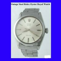 Vintage Steel Rolex Oyster Royal Precision Gents Wrist Watch 1968
