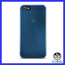 iSkin Solo premium silicone case for Apple iPhone 5/5s, Translucent Blue, NEW