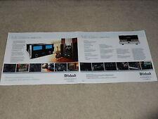 McIntosh MC 452 Amplifier Brochure, 2005, 2 pages, Articles, Info, Specs