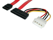 "36"" Inch SATA II SAS 22 (7+15pin) Female to SATA 7-pin Data Cable w/ Molex Power"