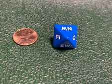 Compass Dice Direction Die D8 (Eight Sided) Tabletop RPG Gaming Blue with White
