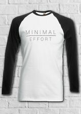 Minimal Effort Lazy Fashion Men Women Long Short Sleeve Baseball T Shirt 2338