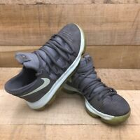 Nike Zoom Boys KD10 Basketball Shoes Gray 918365-002 Breathable Lace Up 5Y