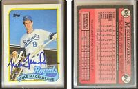 Mike Macfarlane Signed 1989 Topps #479 Card Kansas City Royals Auto Autograph