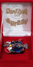 Hard Rock Cafe ONLINE 2001 Happy Holidays Light Up CHRISTMAS PIN in Box #10997