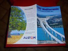 Livret Ligne de Chemin de Fer Train Grande Vitesse Conception TGV Méditerranée