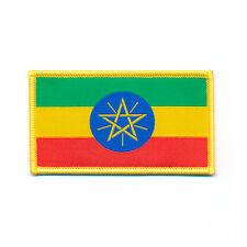 70 x 40 mm ETIOPIA Addis Abeba BANDIERA FLAG Emblema ricamate aufbügler 0877 B