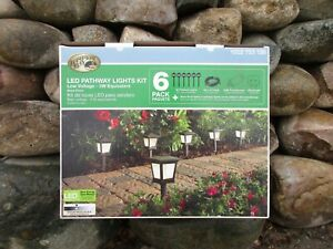 New, Low Voltage Black Outdoor Integrated LED Landscape Path Light (6-Pack Kit)