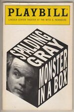 "Spalding Gray  ""Monster In A Box""   1991   Playbill  Lincoln Center  NYC"