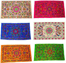 Indian Wall Hanging Wool Embroidery Handmade Suzani Cotton Hippie Throw Tapestry