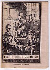 1982 fanzine PULP LETTERZINE #1, by & for Doc Savage fans!!
