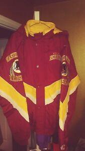Washington Redskins Throwback Windbreaker Parka Starter Jacket XL New! NWOT