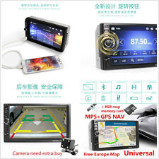 7'' Touch Screen 1080P Car Bluetooth Stereo MP5 Player GPS Navigation + 8GB Card