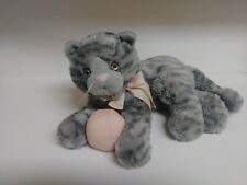 Fao Schwarz ~ Gray Tabby Striped Cat Plush ~ Very Soft ~ GUC!