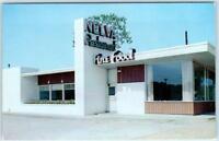 MERIDIAN, Mississippi  MS   Roadside  NELVA COURTS & RESTAURANT  c1950s Postcard