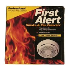 First Alert SA67D Professional Smoke & Fire Detector Vintage 1990 Model 83R NEW