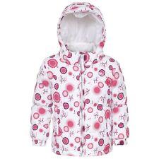 Manteau Blouson avec Capuche Blanc Motifs Roses Trespass Taille 12 / 12 Mois