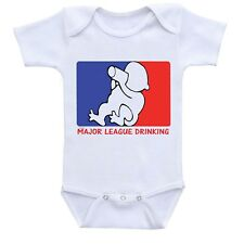 Major League Drinking, Cute Gift Baby Bodysuit By Apparel USA™