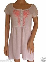 NEW Ex F&F White Top Tunic Smock Cross Stitch Summer 100% Cotton Size 10 - 22