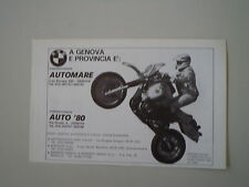 advertising Pubblicità 1984 GASTON RAHIER e MOTO BMW R 80 GS G/S PARIS DAKAR