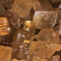 2000 Carat Lots of SMALL Citrine Calcite Rough + A FREE Faceted Gemstone