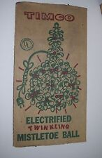 TK-001 - Vintage Timco Electrified Twinkling Mistletoe Ball, Christmas Ornament