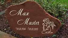 Schwere Gedenkplatte Grabstein Gedenktafel Gedenkstein Urne Tiergrab Motiv Engel