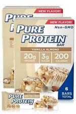 Vanilla Almond Pure Protein Bars New Flavor 6 Bars (1 Box) 20g Protein Brand New