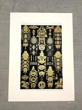 French Gold Jewelry 18th Century Original Antique Chromolithograph Print 1873