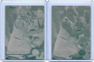1/1 SET LOT OF 2 SHAQUILLE O'NEAL 1995 CLASSIC PRINTING PLATE LA LAKERS 1 OF 1