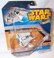 Star Wars Hot Wheels Rebel Snowspeeder modellino con base ad anello nuovo Disney