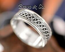 SIZE 13 Bravo & Co. Finely Made Solid Sterling Silver New Band Men Ring R-208
