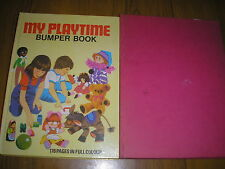LOT OF 2 CHILDREN'S BOOKS-MY PLAYTIME BUMPER BOOK 1975 & READ & PLAY BOOK 1971
