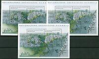 3 x Bund Block Nr. 44 postfrisch BRD 1997 -1998 National und Naturparks 1998 MNH