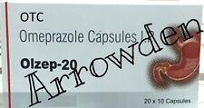OTC Olzep 600 Capsules OMEPRAZOLE 20 mg Acid Ocid Reducer Formula FREE SHIPPING